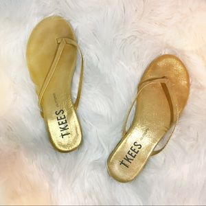 Tkees Gold Glitters Sandals Flip Flop Shoes